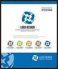 蓝色能源科技之星现代简约标志设计
