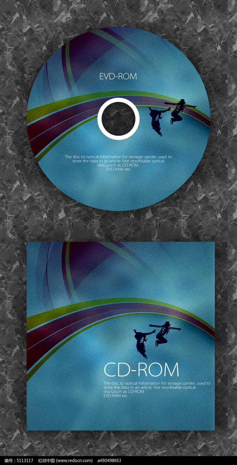 深色舞蹈演唱会时尚cd光盘设计图片