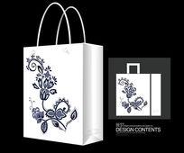 时尚装饰花纹手提袋