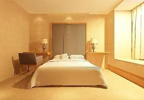 现代风格宾馆包间装修3D效果模型素材
