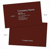 棕色底纹质感商务大气简洁名片