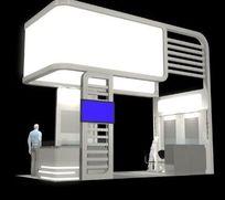 10多平简约造型展厅模型素材资料