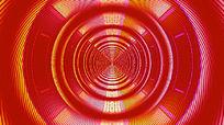彩虹色线圆环闪烁隧道动感视频素材