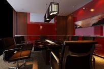 个性小型会议室装修3D设计模型素材资料