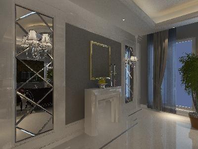 简约欧式端景墙面造型3d设计模型