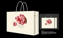 经典玫瑰矢量图案手提袋