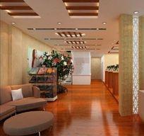 酒店大厅模型效果3D模型