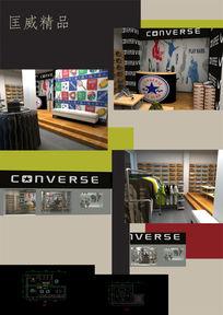匡威专卖店展示空间设计模型效果图