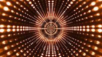 亮丽多光点隧道闪烁的视频素材