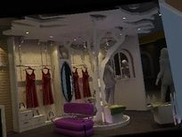 女装卖场展厅设计效果3D模型素材资料