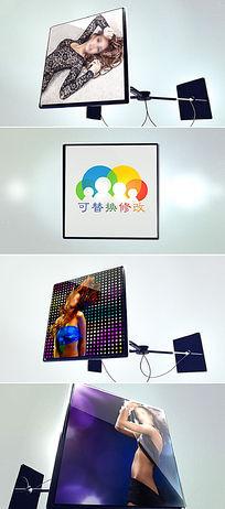 时尚动感电子屏幕图片展示ae模板