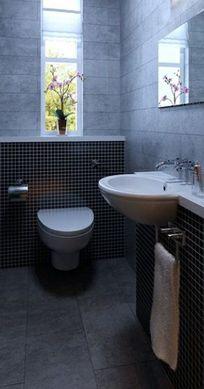 时尚个性马赛克卫生间墙面装饰3D设计模型