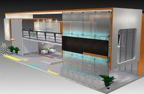 双层展厅设计3D效果模型