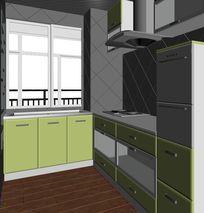 现代风格厨卫规划设计3D模型