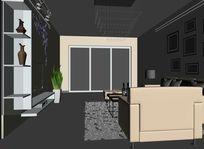 现代风格客厅电视柜装饰柜3D模型