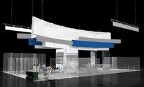 现代素雅售楼处展厅设计3D模型