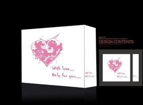 爱心礼品盒包装
