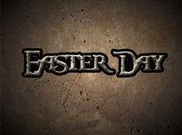 复活节英文字体设计