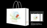 花卉花朵背景手提袋