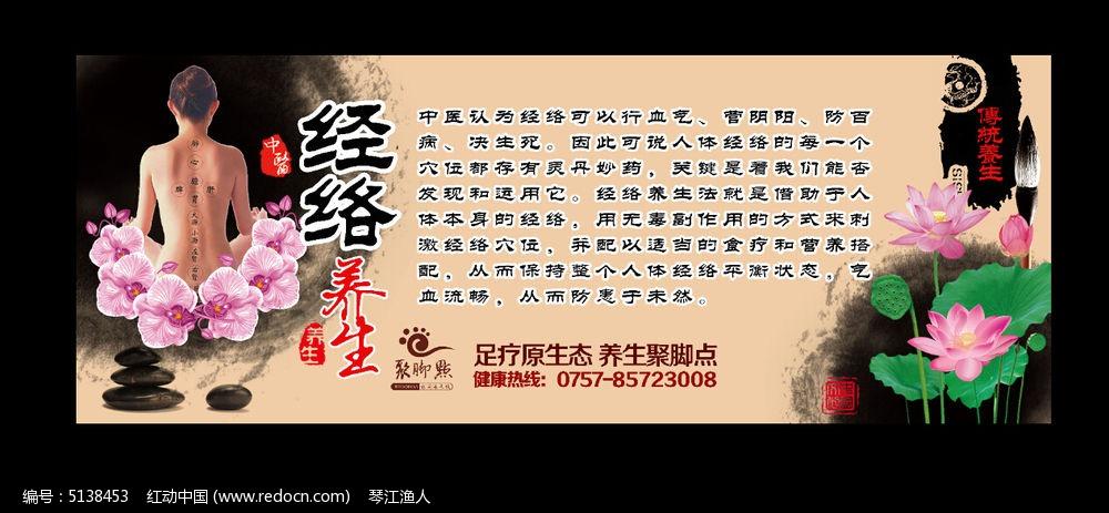 原创设计稿 海报设计/宣传单/广告牌 海报设计 经络中医文化海报