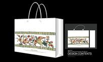 精品韩国古典花纹装饰手提袋