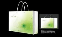 绿色花纹手提袋