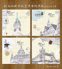 欧式旅行建筑墙纸
