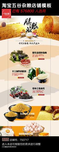 淘宝五谷杂粮店铺模板