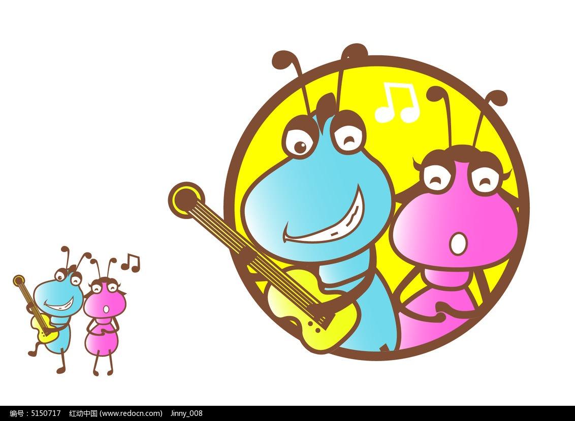 原创卡通蚂蚁乐队