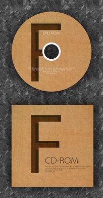 字母时尚简洁公司光盘模板 PSD