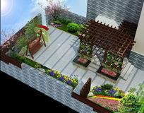 3D景观庭院模型
