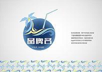 海南风情冷饮品牌logo设计