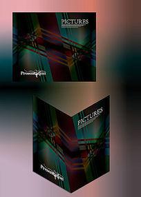 乱线设计高档画册书籍通用封面模板