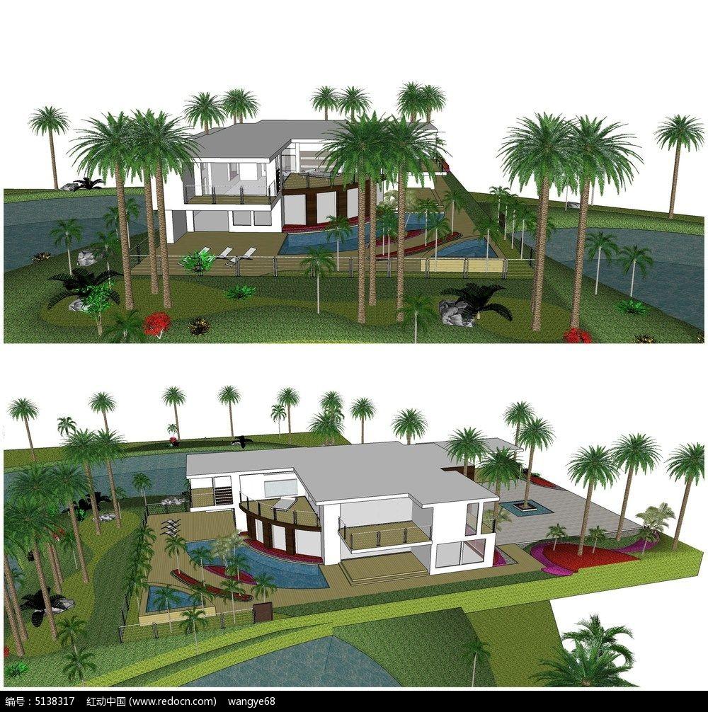 农村庭院小别墅设计图图片