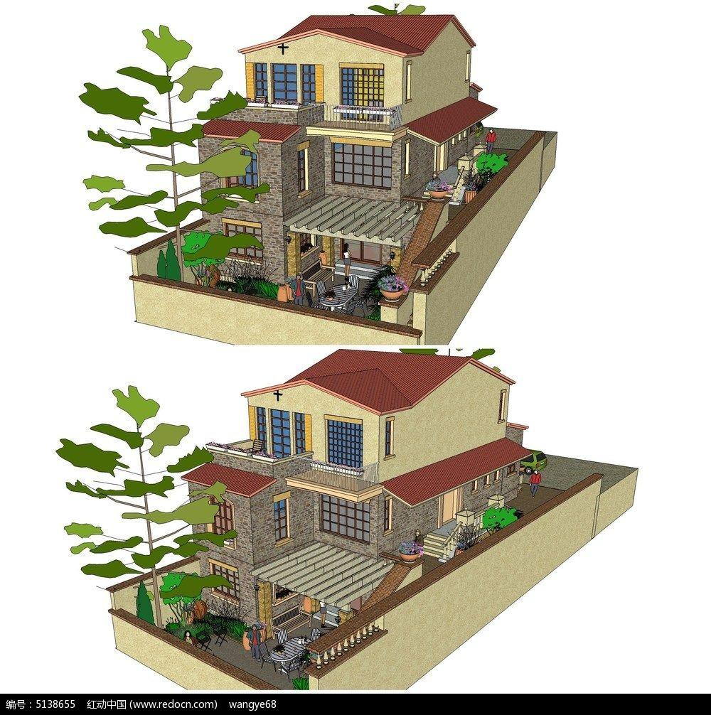 小花园景观设计手绘平面图