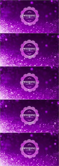唯美粒子婚礼logo欧式花纹led舞台视频素材