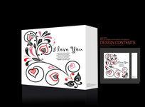 幸福爱心礼盒广告设计