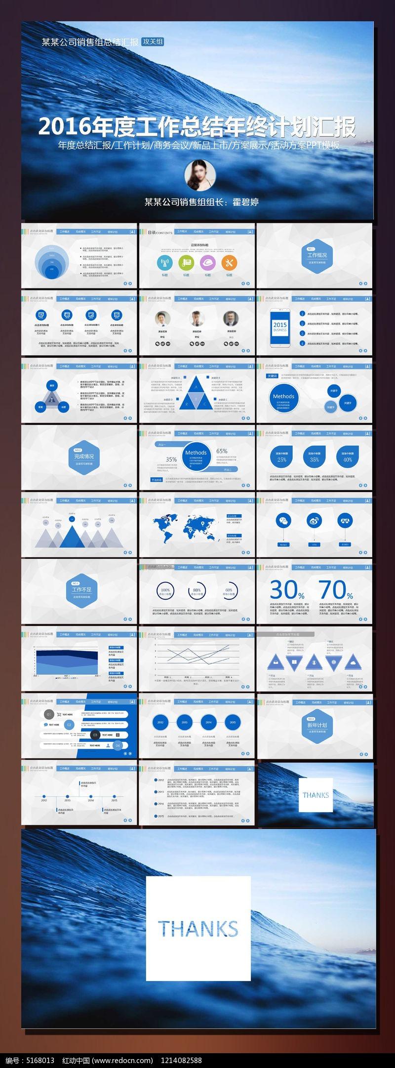 2016年度工作计划总结ppt模板
