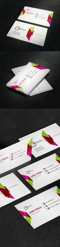 简约版式企业名片设计