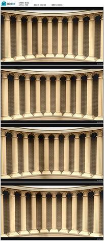 罗马柱高清动态背景视频素材