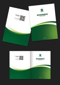 绿色科技公司精美高档画册封面模板设计psd源文件下载