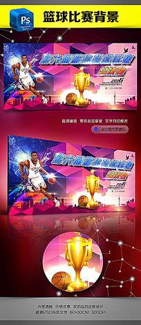 校园篮球挑战赛海报设计