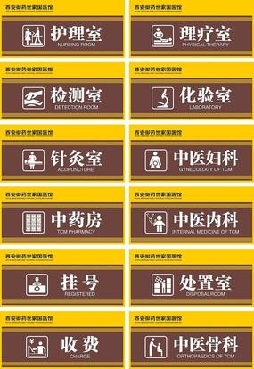 中医院诊室门牌