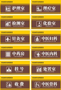 中医院诊室门牌 CDR