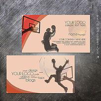 NBA篮球运动扣篮名片设计模板 PSD