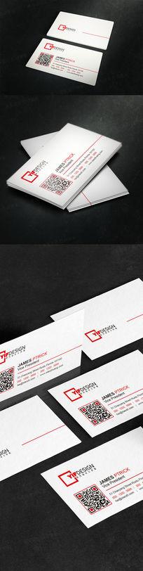 白色简约排版名片设计