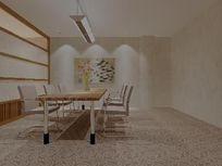 超简现代会议室装修设计模型素材max