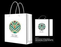 传统花纹手提袋