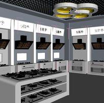 厨房灶具卖场展厅3D效果模型素材资料