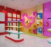 儿童玩具卖场规划布置3D造型模型素材